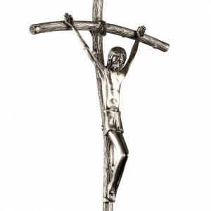 Croci astili e basi portacroce: Croce astile Pastorale di Giovanni Paolo II in bronzo