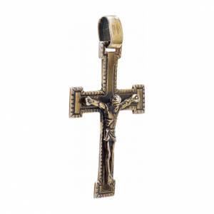 Croce classica argento 925 bronzato s2