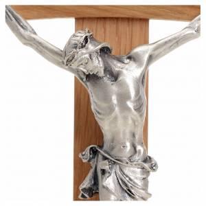 Croce curva legno rovere corpo metallo s3