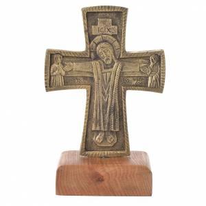 Croci da altare con candelieri: Croce da mensa Cristo Grand Pretre 21x13 Bethléem