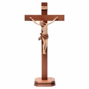 Crocifissi da tavolo: Croce da tavolo mod. Corpus legno Valgardena multipatinata
