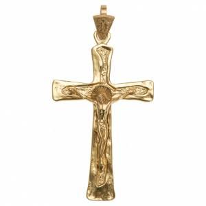 Croce episcopale argento 925 dorato s1