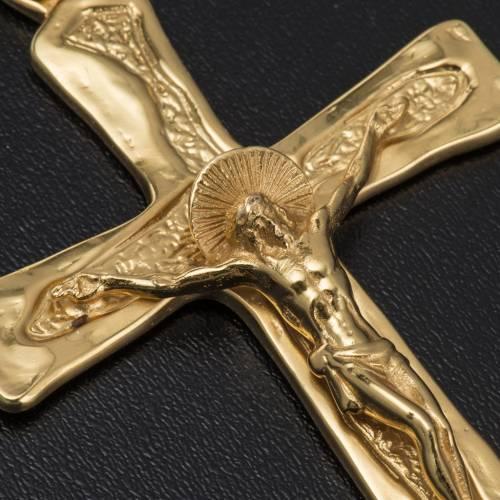 Croce episcopale argento 925 dorato s4