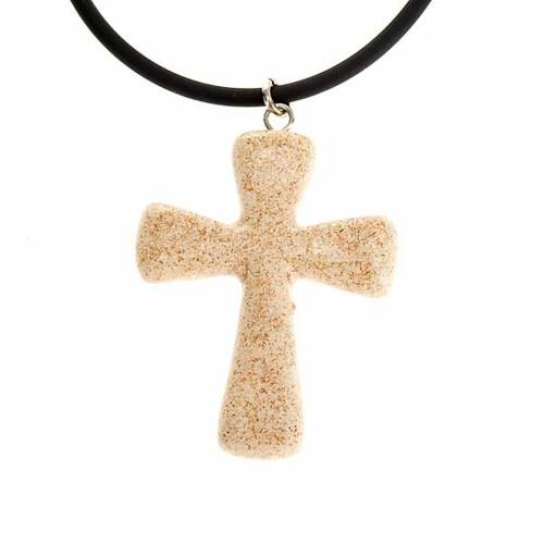 Croce pendente ceramica s3
