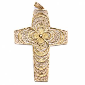Articoli vescovili: Croce pettorale in filigrana arg. 800