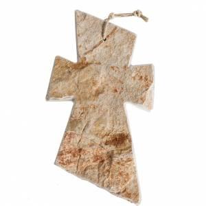 Croci e calamite e oggettistica: Croce pietra rossa Medjugorje 13X8cm