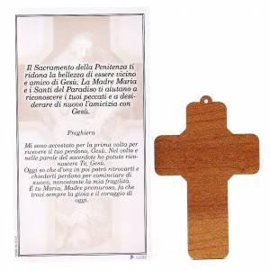 Croce pvc Penitenza con cartoncino s2