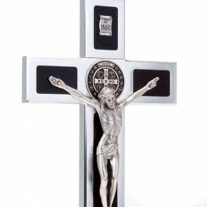 Croce San Benedetto Prestige intarsio legno con base s3