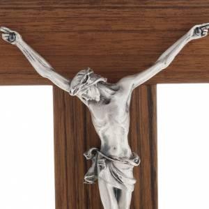 Crocefisso altarino da tavolo legno di noce s2