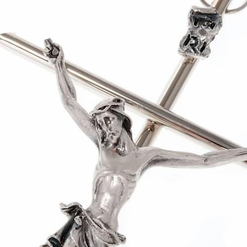 Crocefisso metallo classico croce dritta s4