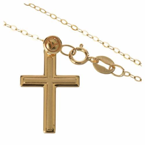 Croix avec collier en or 750/00 - 1,74 g s2