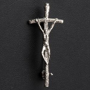 Croix de Clergyman: Croix clergyman Pastoral Jean Paul II argent 4x2