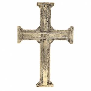 Croix de Christ laiton Moines Bethléem 29x19cm s3