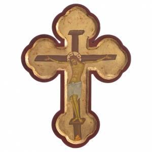 Croix Icône impression sur bois Grèce 20x9 cm s1