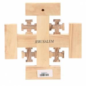 Croix Jérusalem olivier Terre Sainte G.B.O.H. 15 cm s2