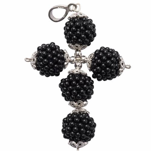 Croix onyx petites balles 1.5 cm s1