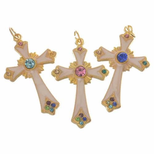 Croix pendentif métal doré s2