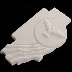 Icônes, tableaux de petite taille et croix: Croix Saint-Esprit confirmation argile réfractaire