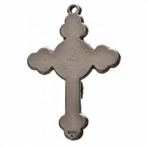 Croix trilobée Saint Esprit, 4,8x3,2 zamac émail bleu s2