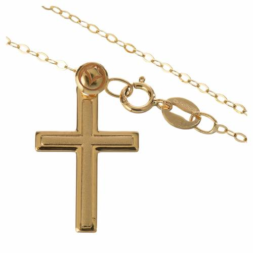 Cross pendant and chain in 18k gold 1,74 grams s2