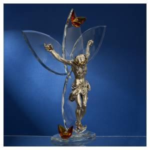 Regalos y Recuerdos: Crucifijo con cristales Ámbar 32 cm