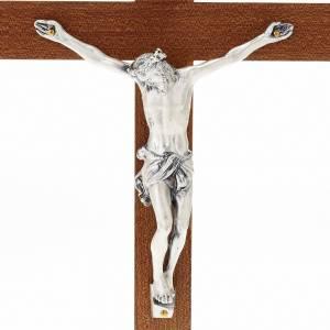 Crucifijos de mesa: Crucifijo de madera recto con base