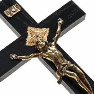 Crucifijo sacerdote madera roble 20x10 cm s2