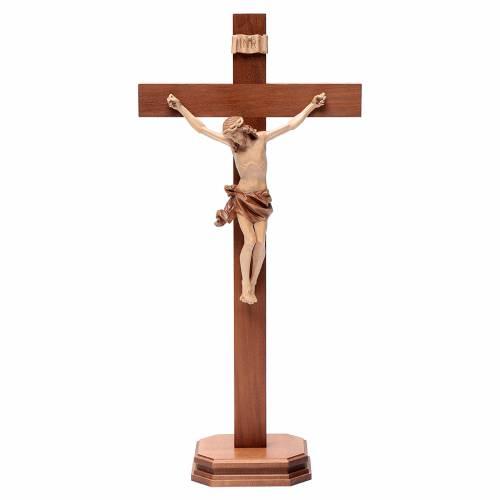 Crucifix à poser bois patiné multinuances mod. Corpus s1