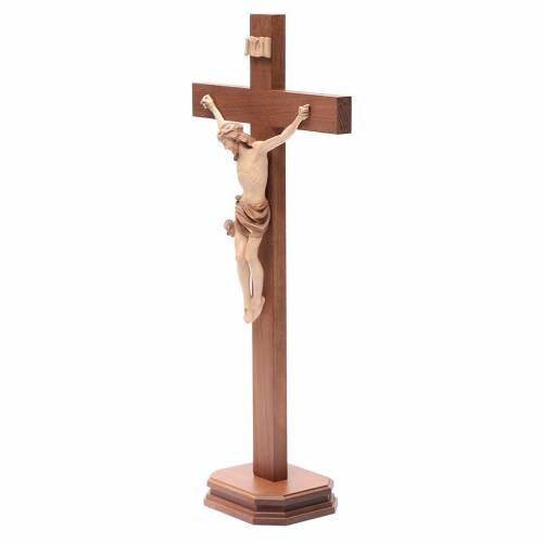 Crucifix à poser bois patiné multinuances mod. Corpus s2