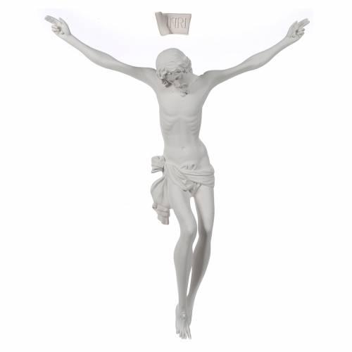 Crucifix bas relief  in white fiberglass s1