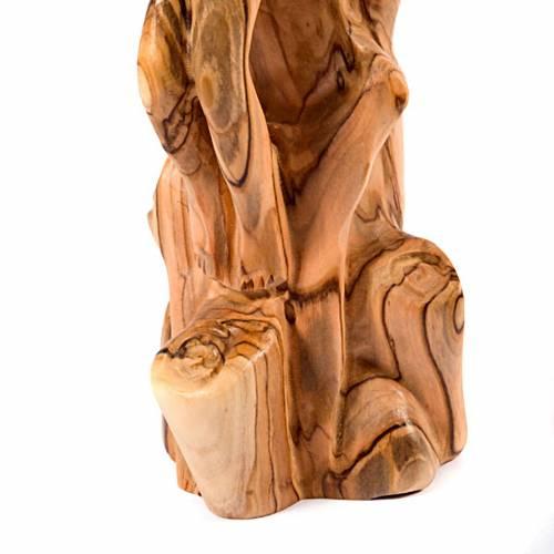 Crucifix, bois d'olivier sur tronc s4