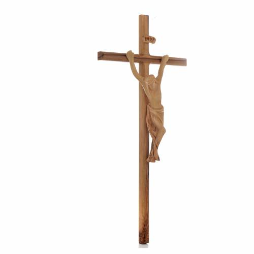Crucifix, bois d'olivier Terre Sainte, taille moyenne s3