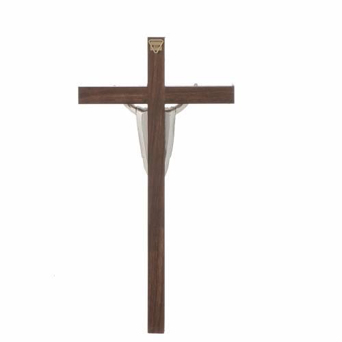 Crucifix bois de noyer, Christ ressuscité s3