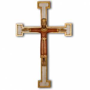 Crucifix, Christ Prêtre en bois, affichage mur s1