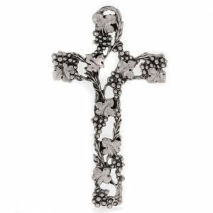 Crucifix doré raisins 13 cm s1