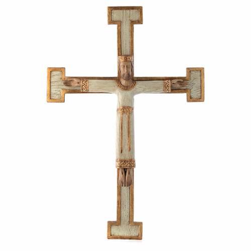 Crucifix en pierre, Chist, roi en blanc, croix blanche s1