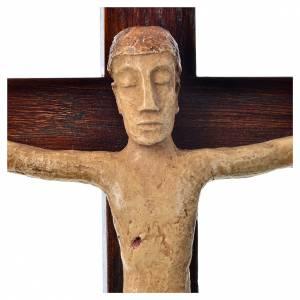 Crucifix en pierre sur bois 34cm Bethléem s5
