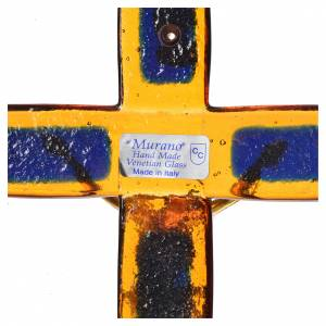 Crucifix in topaz glass with golden body s3