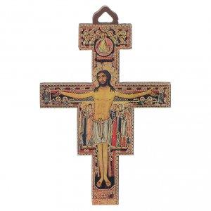 Wooden crucifixes: Crucifix in wood San Damiano 8 cm