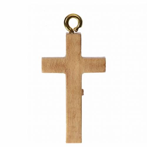 Crucifix pour chapelet bois patiné Valgardena s2