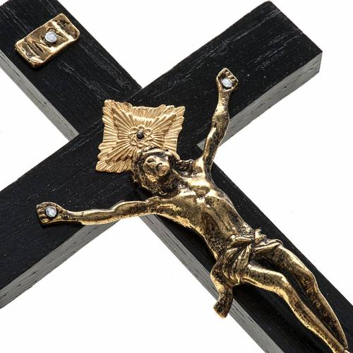 Crucifix pour prêtre en bois de rouvre 20x10 cm s2