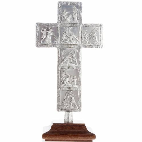 Crucifix, silver table cross with Way of the Cross s3