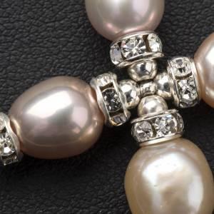 Cruz colgante Swarovski y perlas s4