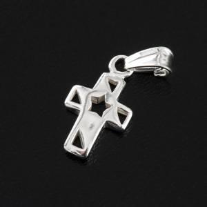 Cruz con estrella, plata 925 s3