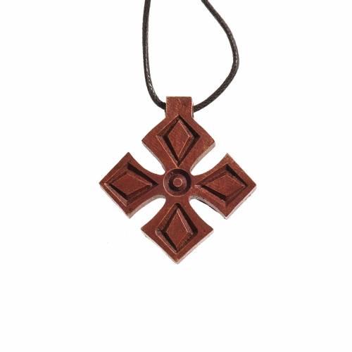 Cruz de madera oscura Bethléem s1