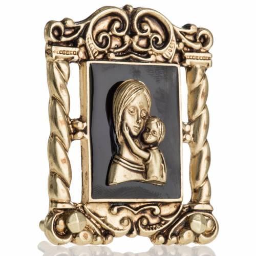 Cuadro de María y  el Niño Jesús 6x5 cm s2