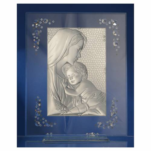 Cuadro Maternidad Plata y Swarovski Blanco s4