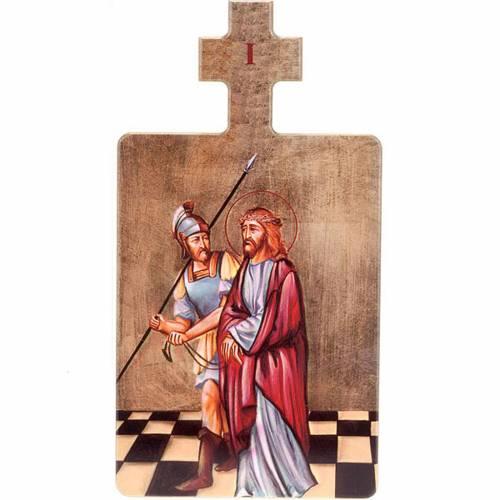 Cuadros estaciones Vía Crucis 15 piezas madera s1