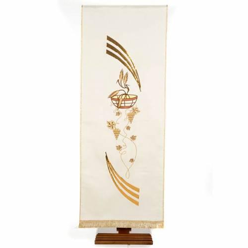 Cubre atril shantung decorado patena espigas y uvas s7