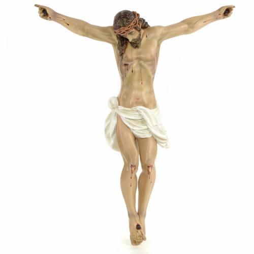 Cuerpo de Cristo Muerto 60cm pasta de madera dec. elegante s1